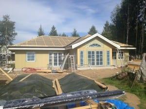 Hus klargjort for muring