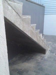 støpt betongtrapp