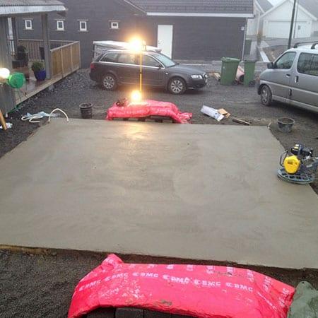 støping av garasjesokkel