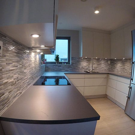 mosaikkfliser kjøkken