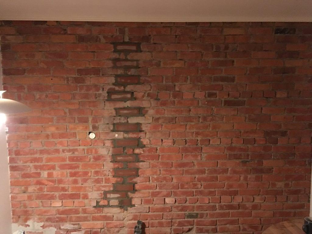muring av teglsteinsmur